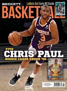 New AUGUST 2021 Beckett BASKETBALL Card Price Guide Magazine  CHRIS PAUL 6022720