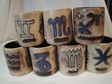 Lot of 7 Zodiac Mara of Mexico Cup Mug Stoneware Studio Art - 1 CAN BE PURCHASED
