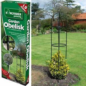 NEW GARDEN OBELISK CLIMBING PLANT FLOWERS STEEL FRAME EASY ASSEMBLY GROW SUPPORT