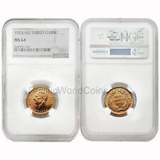 Turkey 1923/82 100 Kurush Gold NGC MS64