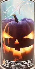 Kringle Candle GRAVEYARD NIGHT Large Jar 2 Wick 22 Oz Black Halloween Soy Wax