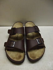 PAPILLIO BIRKENSTOCK MEN'S SANDALS BROWN LEATHER TWO STRAP W/BUCKLES SIZE M10