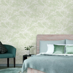 Green Whispering Trees Wallpaper by Holden Statement 65620