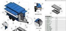 PLANS Mobile Food Cart Trailer kitchen vending truck DIY blueprints