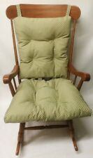 Rocking Chair or Glider Cushion Set Indoor Outdoor Over Sized Checked Patio