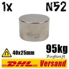 Neodym Magnet Scheibe 40x25mm 4cm Durchmesser N52 95kg handlicher Dauermagnet
