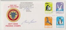 HUTT RIVER PROVINCE 1977 Antarctic Flight cover signed by Prince Leonard.