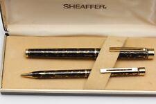 Sheaffer Targa 1044 Golden Filigree Fountain Pen and Pencil Set ,Boxed