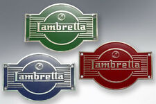 LAMBRETTA LD AIR SCOOP BADGES (PAIR) IN BLUE - FREEPOST
