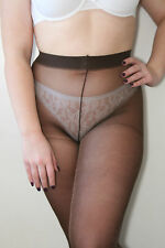 Jonathan Aston Nite Lites Sexy Sheer Lurex Pantyhose Tights Chocolate & Bronze
