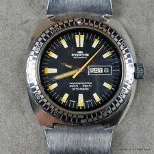 FORTIS 1980s HI-FI-MATIC 200M 44MM Cal 2790-1 DAY DATE RARE DIVER ARMOR PLATE