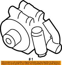 FORD OEM-Power Steering Pump 7L3Z3A674BRM