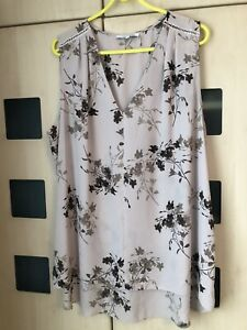 Next  Beige Floral Sleeveless Top Size 20 Tall. Good Condition