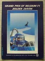 BELGIAN GRAND PRIX FORMULA ONE 1984 F1 ZOLDER Official Programme DUTCH TEXT
