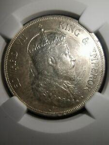 Straits Settlements 1907 50 Cents NGC UNC Details Scarce!!