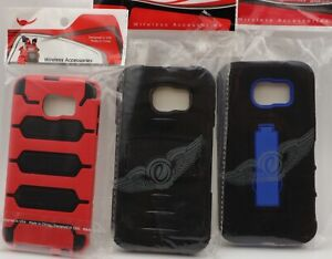 Two-Piece Hybrid Cell Phone Case for Samsung Galaxy S6 - U Pick the Color/Style