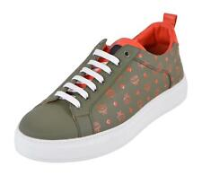 New MCM Men's Winter Moss Leather Visetos Pattern Low Top Sneakers Shoes 45 12