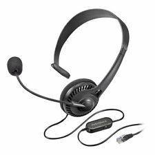 Insignia Landline Phone Hands-Free Headset With RJ9 Connection New NS-MCHMRJ9P