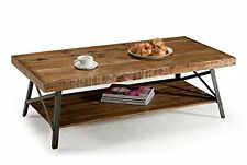 Contemporary Coffee Table Chandler Cocktail Table 2 Storage Shelves Wood Metal