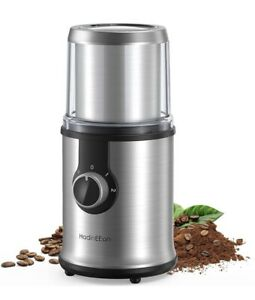 3 Speed Electric Coffee Grinder Stainless Steel Sharp Knife Blade Spice Nut Herb