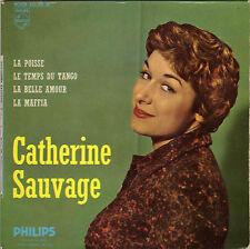 CATHERINE SAUVAGE LA POISSE (4 X LEO FERRE) FRENCH ORIG EP ALAIN GORAGUER