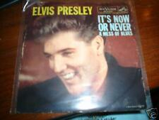 ELVIS PRESLEY IT'S NOW OR NEVER USA PIC SLEEVE RCA VIC