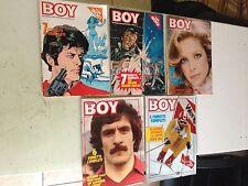 lotto 5 riviste corriere boy del 1976 N° 4-5-26-30-34