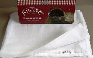 Muslin Jam Jelly Preserving Straining Cloth 100% Cotton, 50cm Square By Kilner