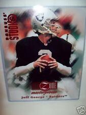 Jeff George 1997 Donruss Studio Football Portrait Card