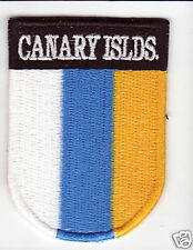 CANARY ISLANDS Country Flag Patch Shield Style