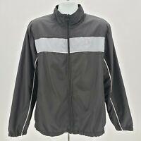 Vintage Starter Black & Gray Windbreaker Track Jacket Men's Large