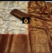 Wedding Wear Soft Nylon Silk Saree With Rich Pallu With Attached Blouse