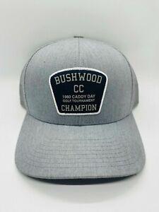 Bushwood CC 1980 Caddy Day Champion Grey Snapback Yupoong Golf Cap Hat Rare USED