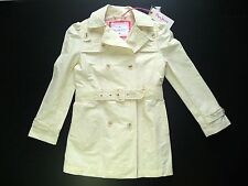 PEPE JEANS TRENCH IMPERMÉABLE BEIGE 6 ANS NEUF