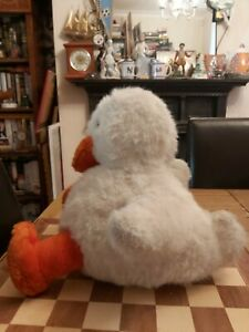Vintage Merrythought Ironbridge Duck Soft Toy Large Approx. 35cm Made In England