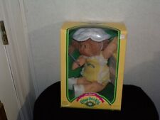 Pigtails girl Tounge Out Hold Hands Vintage Cabbage Patch Girl Doll New In Box
