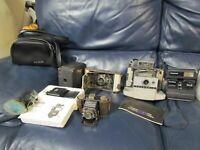 Kodak 2c Autographic Brownie Polaroid 230 Six-20 Duo Lot of Vintage Cameras