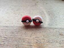Stud Earrings Pokemon Ball Handmade Nickel Free Cute Gift