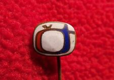 Antiques pin Badge Antique Badge of Czechoslovak Television TV - Antikes Abzeich