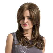 Women Fluffy Light Blond Long Curly Full Head Wig Heat Resistant with Bangs