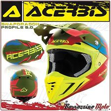ACERBIS CASCO PROFILE 3.0 SNAPDRAGON MOTOCROSS OFFROAD VERDE/GIALLO OPACO TG. XL