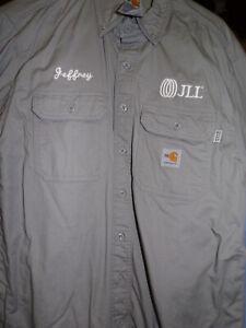 Carhartt FR long sleeve button front work shirt