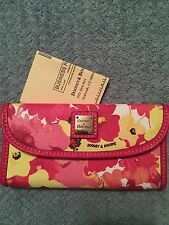 Dooney & Bourke  Hot Pink Continental Floral  Clutch NWT Free Shipping