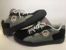 Asham Mens Curling Shoes Leather Suede Nubuck L-foot slider RH-Throw sz 9.5