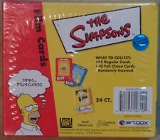 The Simpsons Official SEALED BOX of 24 Film Card Packs MINT NEW Artbox 2000