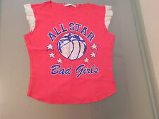 VINTAGE 80s Style Varsity Top All Star Miss Selfridge Topshop T-Shirt