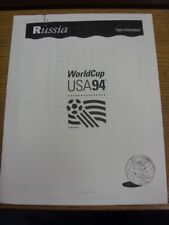 20/06/1994 World Cup: USA 94 - Russia - Official FIFA Press Pack/Team Informatio