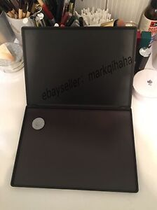 LARGE black compact customised portable MAGNETIC clamshell makeup Palette
