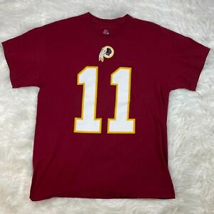 Majestic Washington Redskins NFL Alex Smith #11  T-Shirt Mens Large Maroon S/S