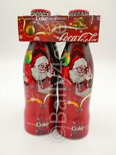 Pack 4 Bouteilles Coca-Cola Christmas Limited Edition Aluminium 2006 Belgium